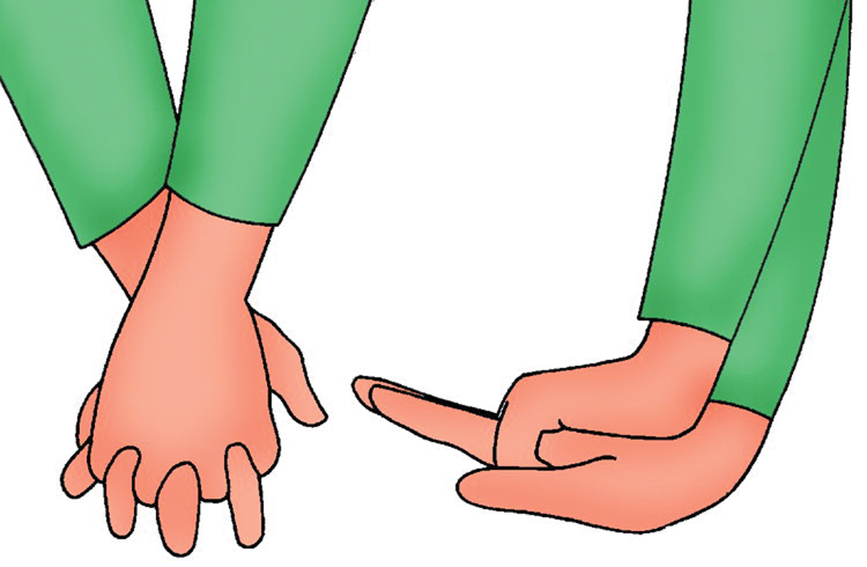 Defibrillatore-mani