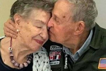 Veterano ritrova l'amata dopo 75 anni