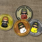 Sono arrivati i patch 3D Tactical Beard in PVC