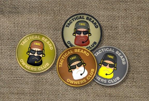 Sono arrivati i patch 3D Tactical Beard in PVC