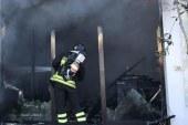 A fuoco negozio di soft air, danni gravissimi
